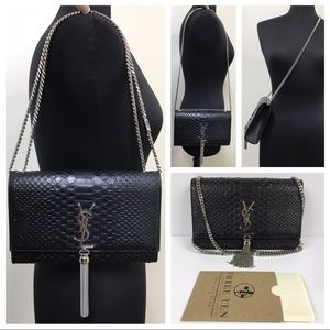 YSL Saint Laurent Medium Kate Leather Tassel Bag